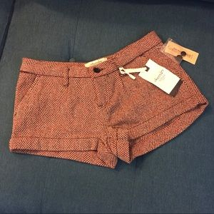 "American Rag Red Tweed ""Brooklyn"" Shorts NWT"
